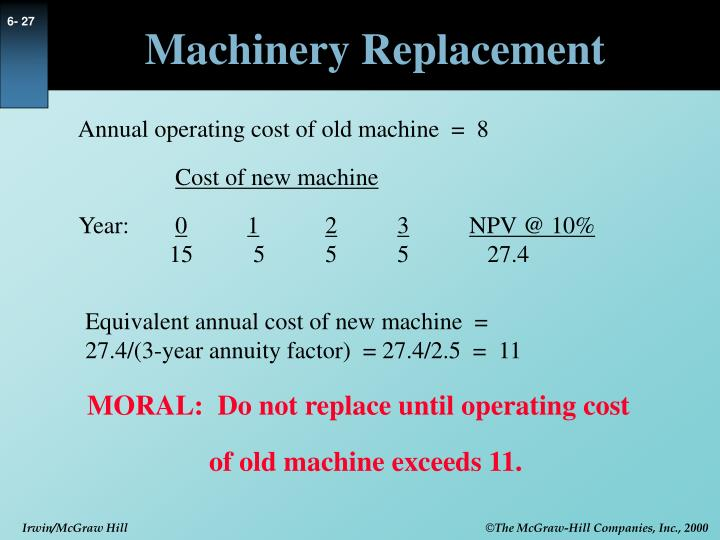 Machinery Replacement