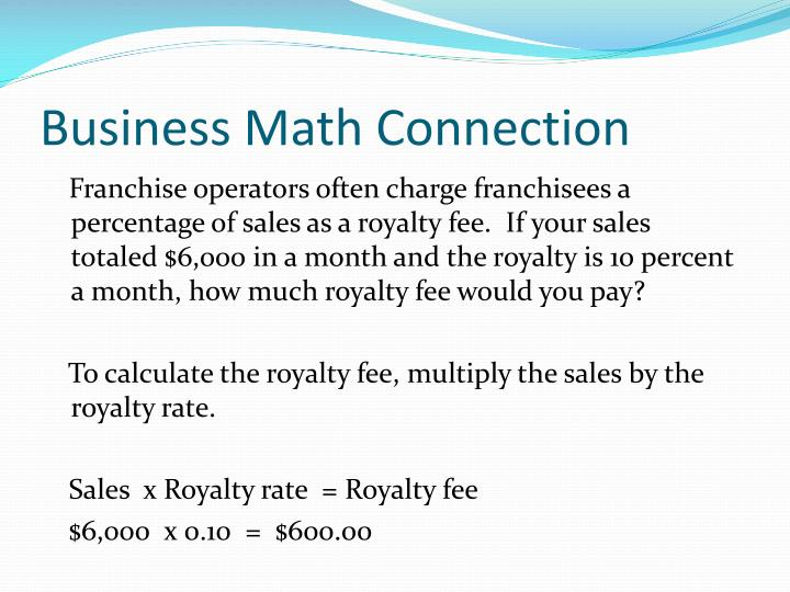 Business Math Connection