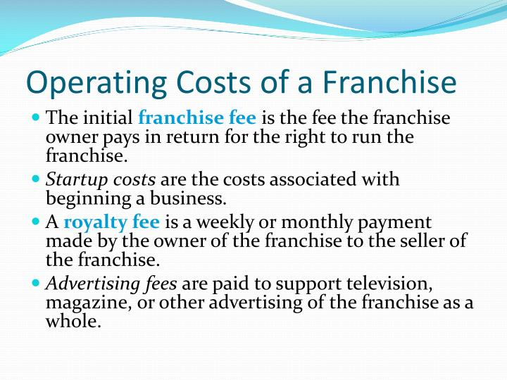 Operating Costs of a Franchise
