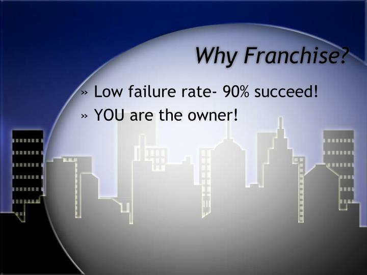 Why Franchise?