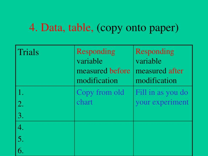 4. Data, table,