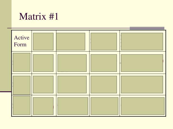 Matrix #1
