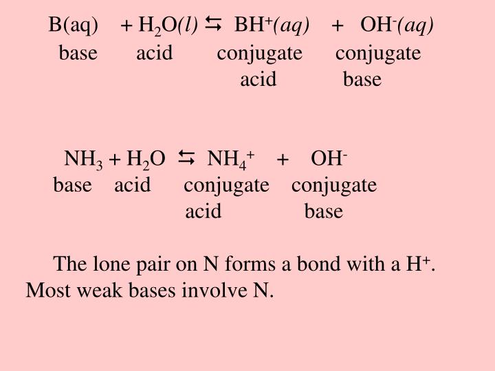 B(aq)    + H