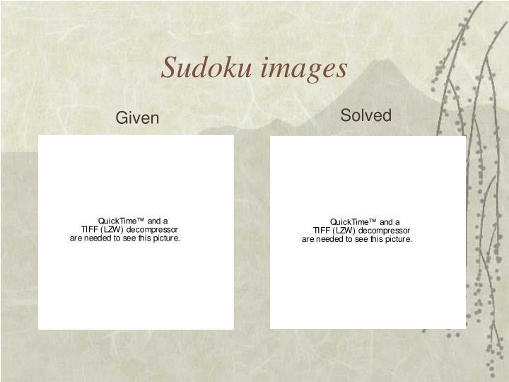 Sudoku images