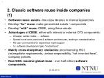 2 classic software reuse inside companies 1