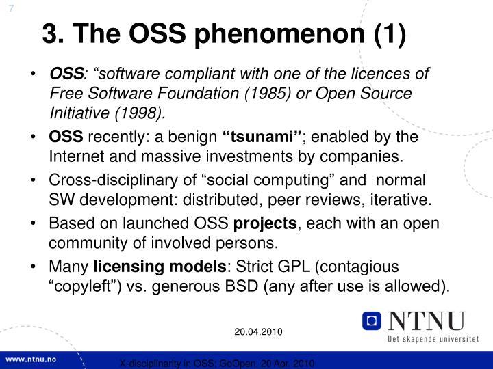 3. The OSS phenomenon (1)