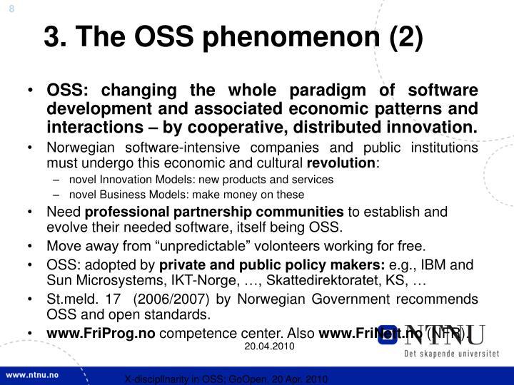 3. The OSS phenomenon (2)