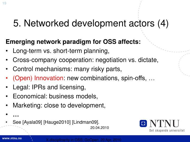 5. Networked development actors (4)