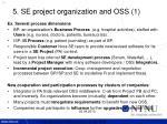 5 se project organization and oss 1