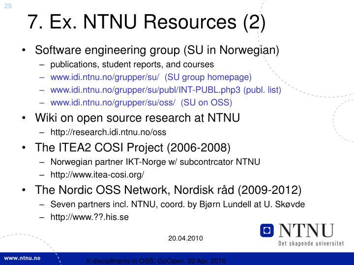 7. Ex. NTNU Resources (2)