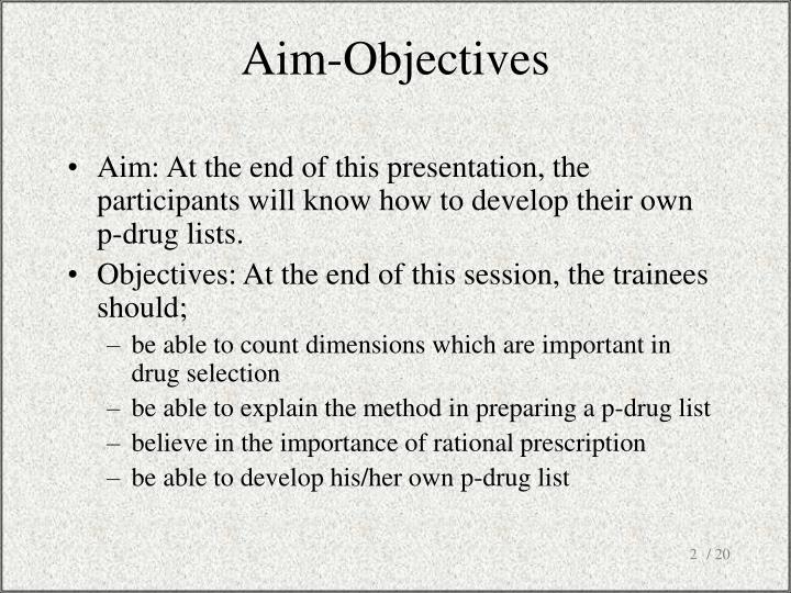 Aim objectives