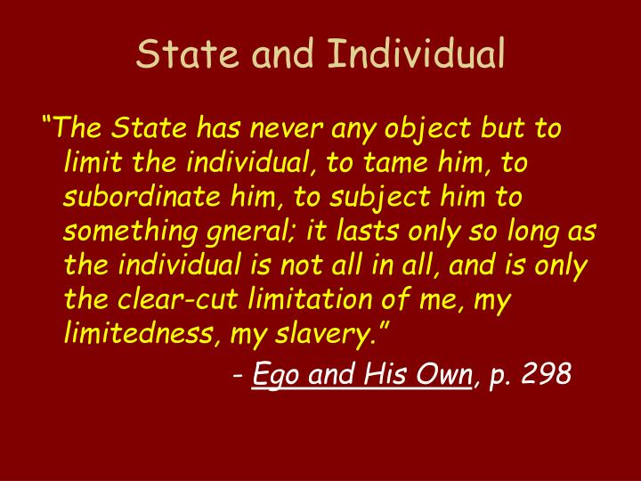 State and Individual