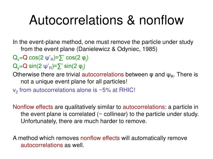 Autocorrelations & nonflow