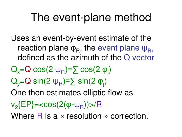 The event-plane method