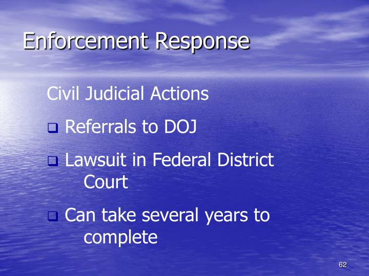 Enforcement Response