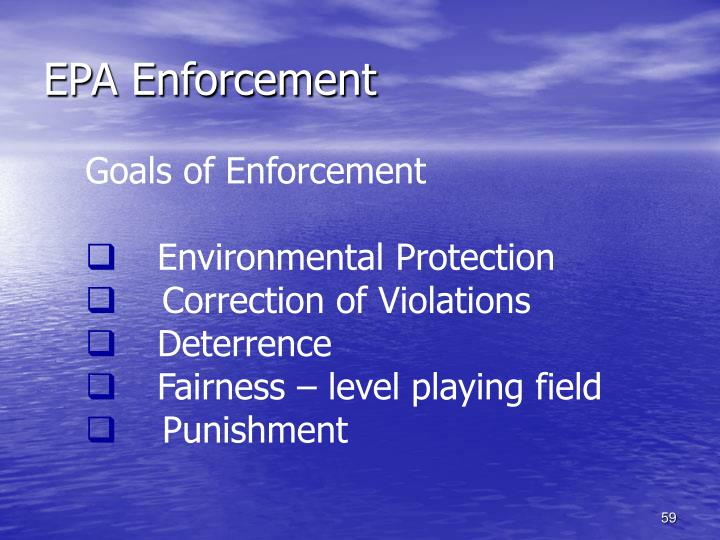 EPA Enforcement