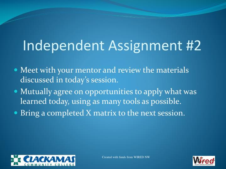 Independent Assignment #2