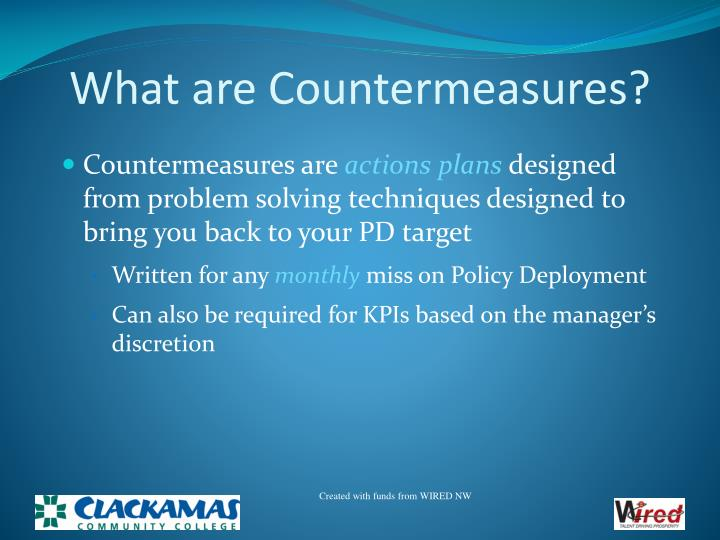 What are Countermeasures?