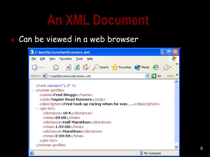 An XML Document