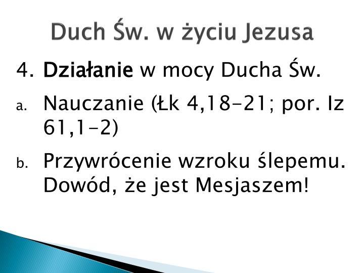 Duch Św. w życiu Jezusa