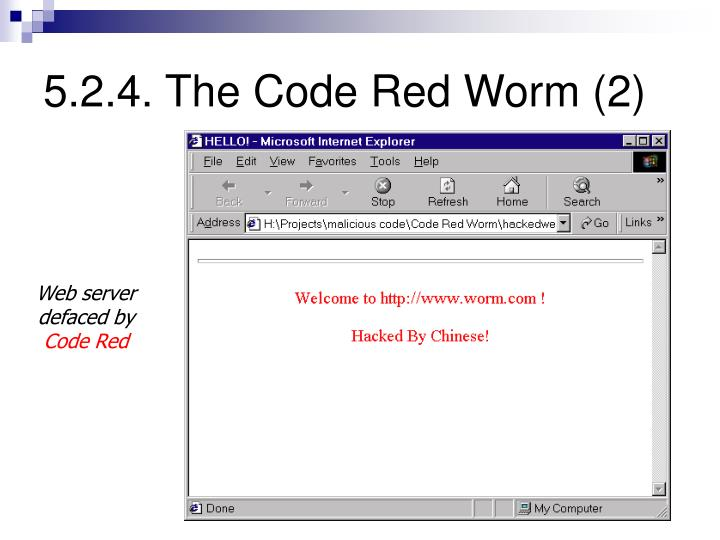 5.2.4. The Code Red Worm (2)