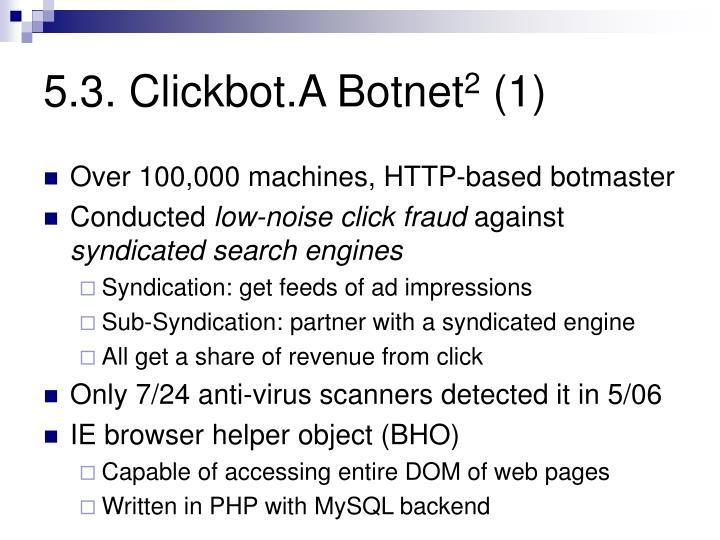 5.3. Clickbot.A Botnet