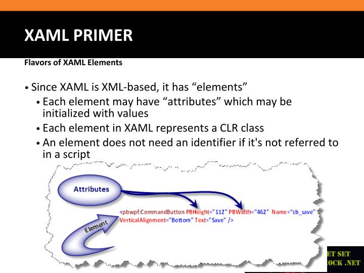 "Since XAML is XML-based, it has ""elements"""