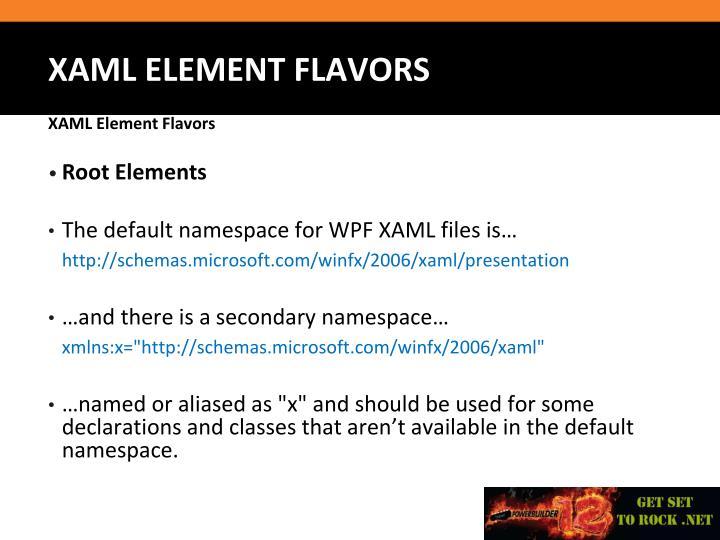 Root Elements