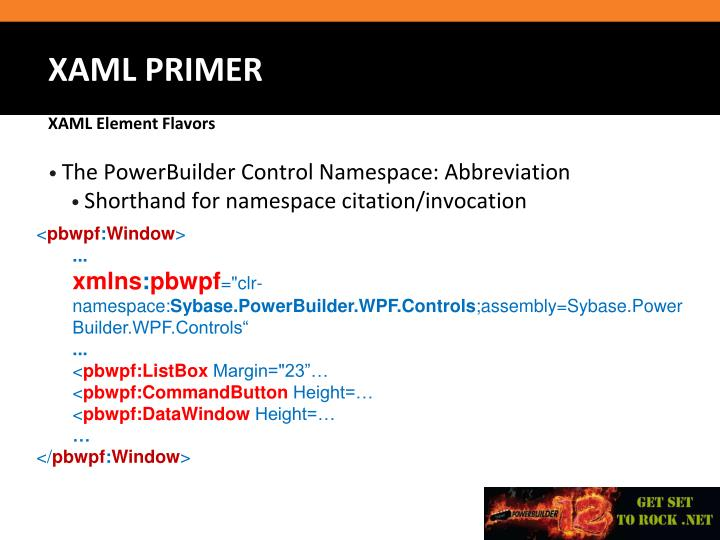The PowerBuilder Control Namespace: Abbreviation