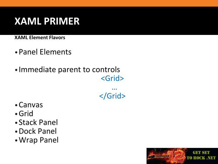 Panel Elements
