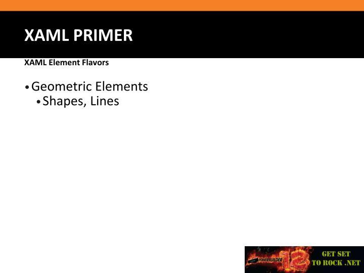 Geometric Elements