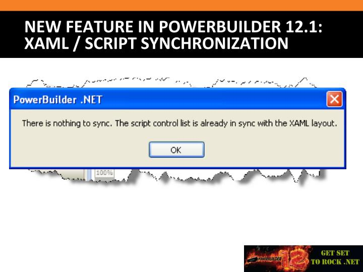 New Feature in PowerBuilder 12.1: