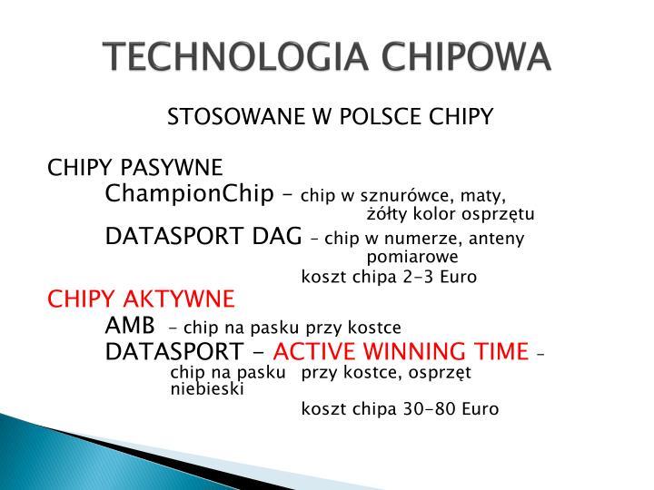 TECHNOLOGIA CHIPOWA