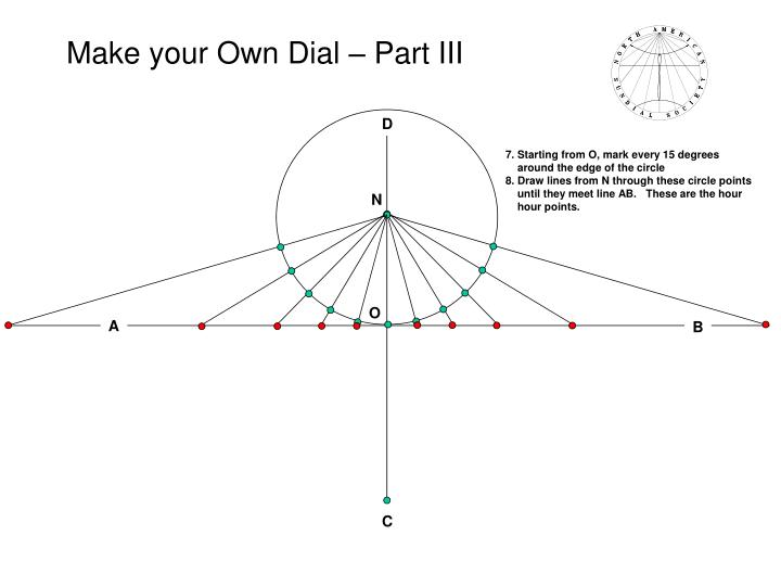 Make your own dial part iii