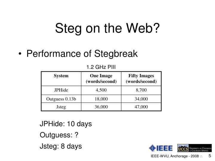 Steg on the Web?