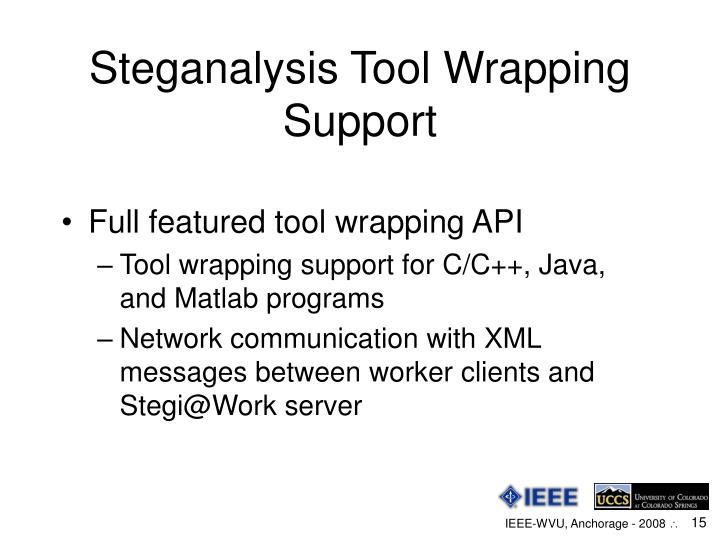 Steganalysis Tool Wrapping Support