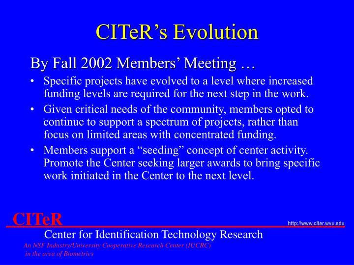 CITeR's Evolution