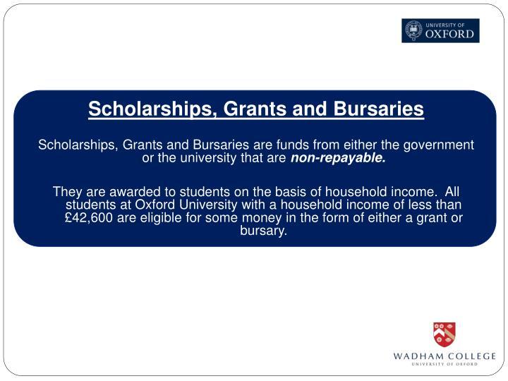 Scholarships, Grants and Bursaries
