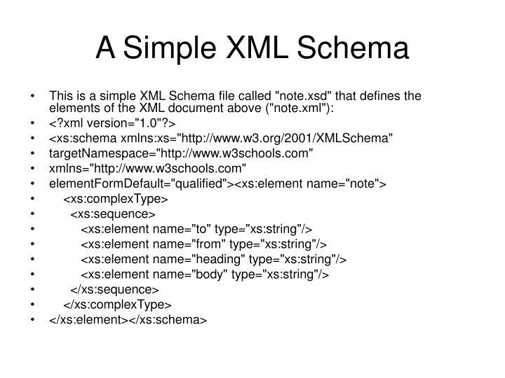 A Simple XML Schema