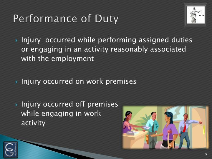 Performance of Duty