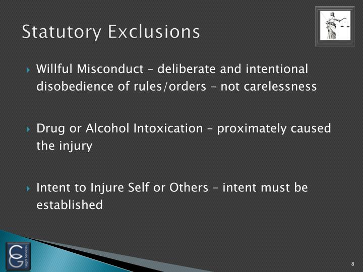Statutory Exclusions