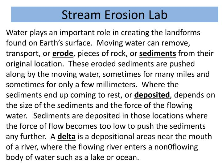 Stream Erosion Lab