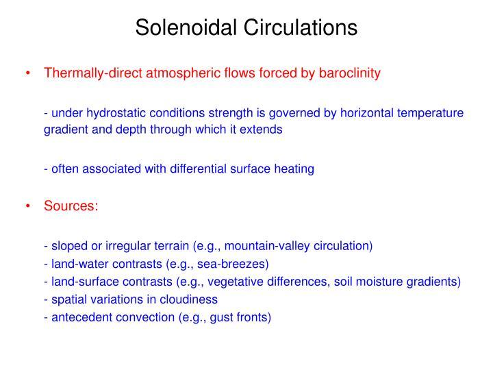 Solenoidal Circulations