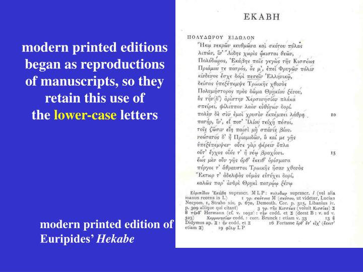 modern printed editions