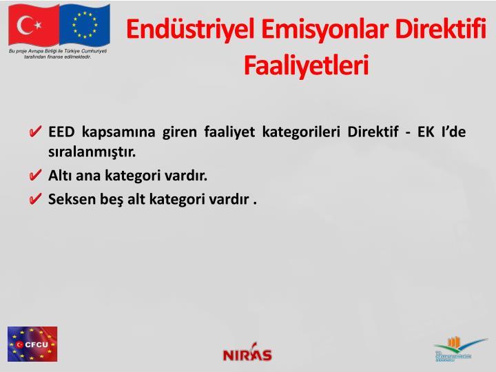 Endüstriyel Emisyonlar Direktifi