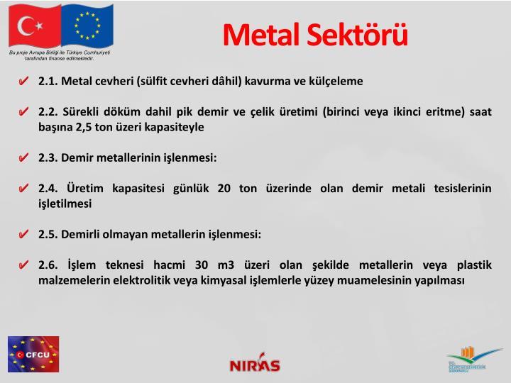 Metal Sektörü