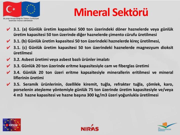 Mineral Sektörü