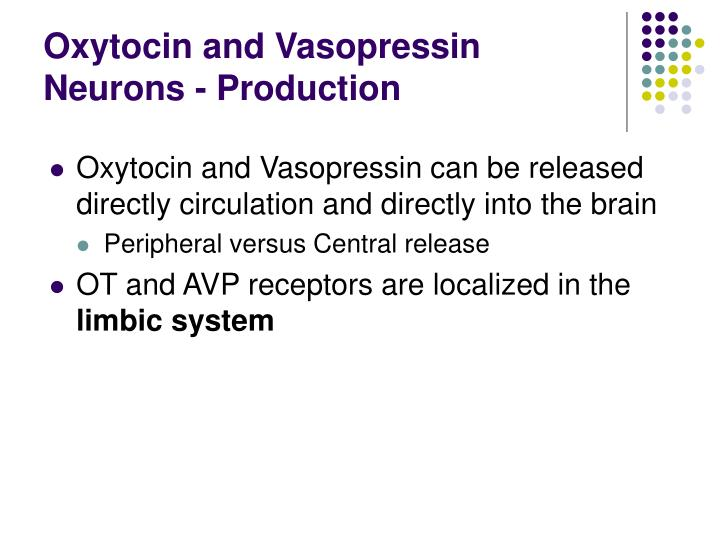 Oxytocin and Vasopressin Neurons - Production