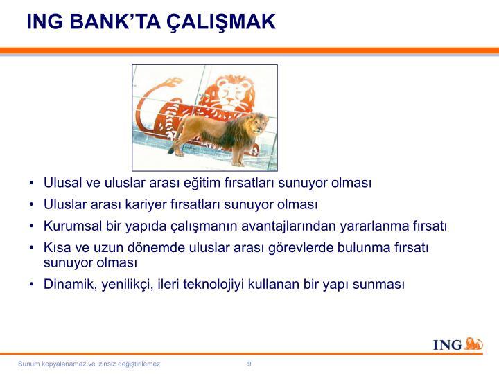 ING BANK'TA ÇALIŞMAK