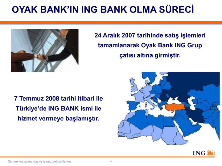 OYAK BANK'IN ING BANK OLMA SÜRECİ